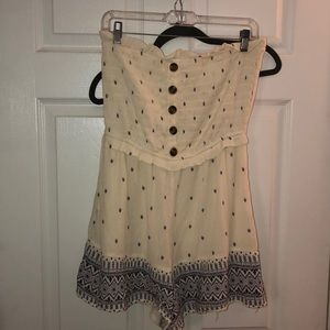 NWT American Eagle white and blue romper